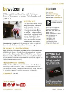 Magazine for Bespoke Hotels